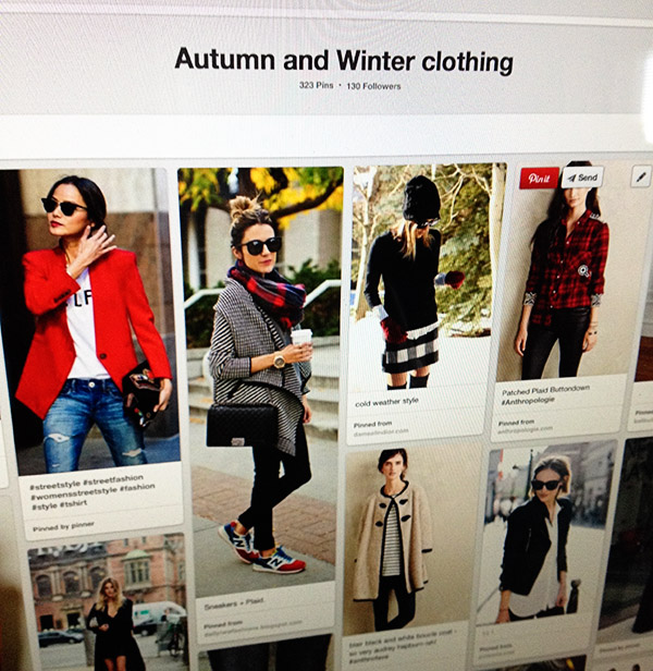 Autumn winter clothing board