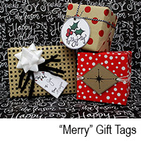 Merry gift tags
