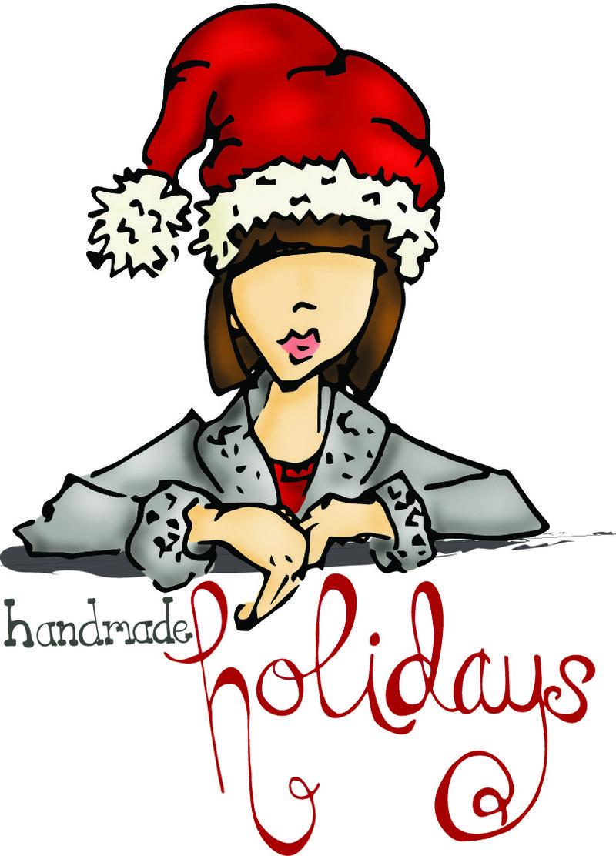 Handmade holidays logo without border