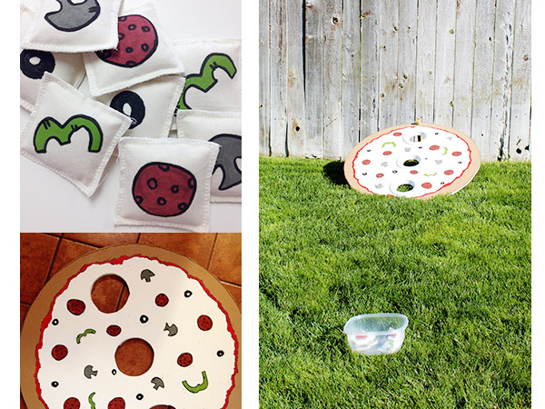 Pizza bean bag toss